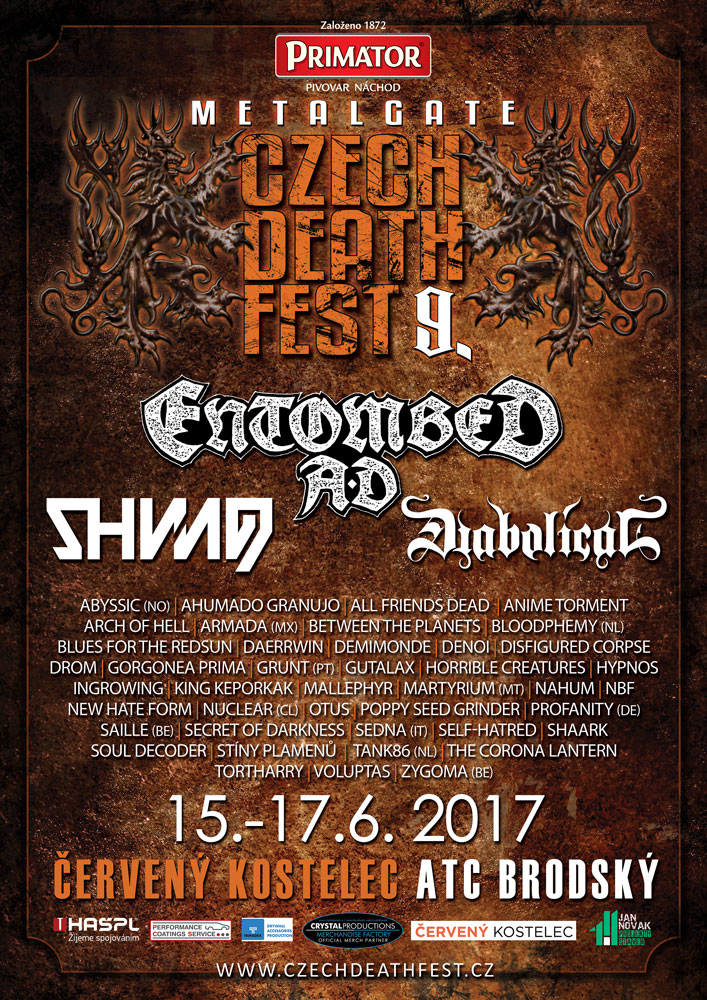MetalGate Czech Death Fest: 2017: Oznamuje finálního headlinera!